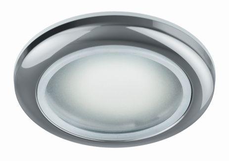 луна алум.влагозащитена матирано стъкло хром