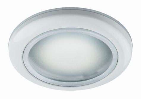 луна алум.влагозащитена матирано стъкло бяла