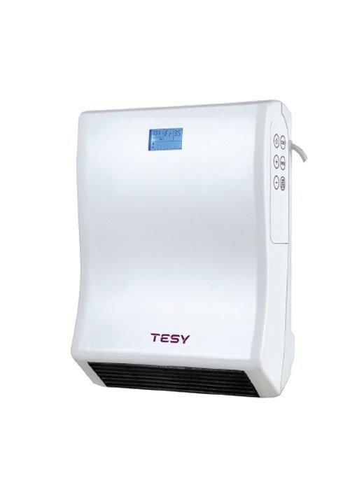 Венилаторна печка Tesy  за баня (HL246VBW), 2000W, 2 степени, LCD дисплей, IP24, електронен терморегулатор, управление чрез докосване
